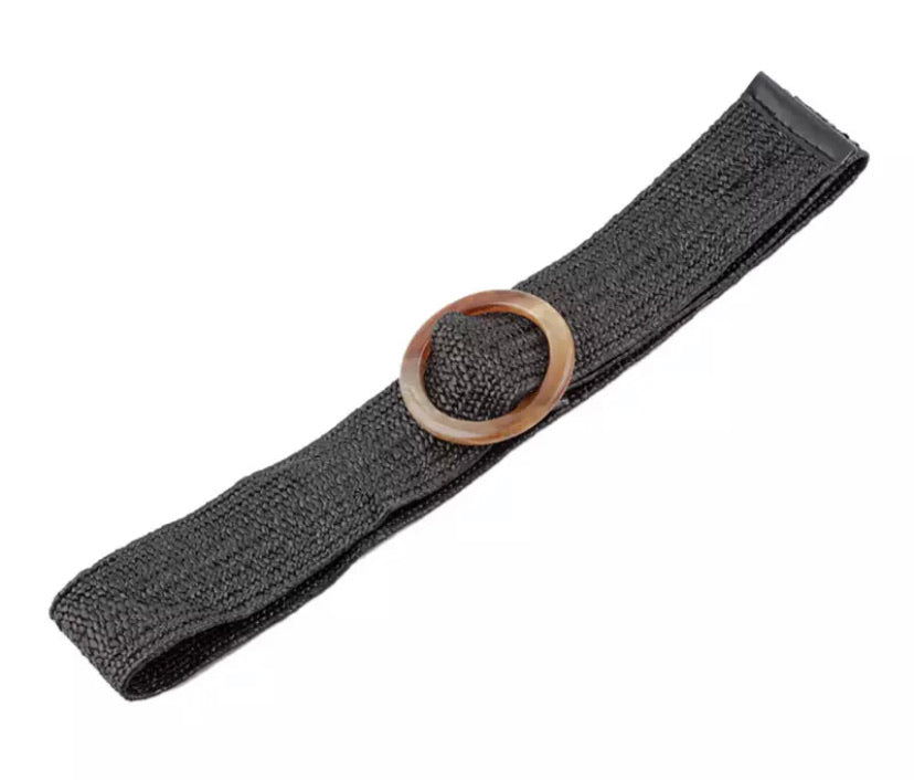 Woven Stretch Belt - Black