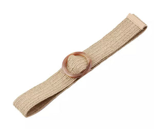 Woven Stretch Belt - Natural
