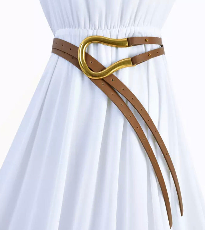 Double Up Belt - Brown