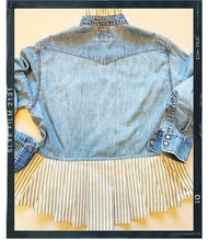 Load image into Gallery viewer, Rose Mae Reworked - FOR THE FRILLS Shacket