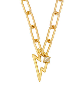 Lightening Carabina Chain Necklace - Gold