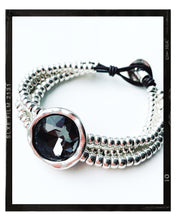 Load image into Gallery viewer, Silver / Grey Stone Bracelet