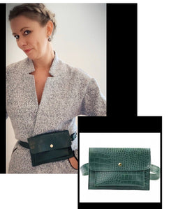 Belt Bag - Green Mock Croc