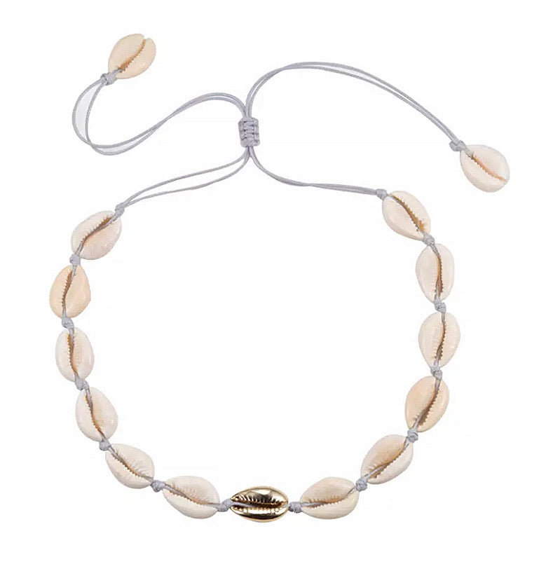 Cowrie Shell Necklace - Gold