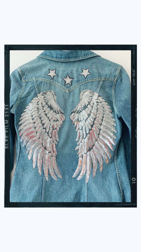 SPARKLE ANGEL - Rose Mae Reworked Denim Shacket (THIS PIECE IS RESERVED)
