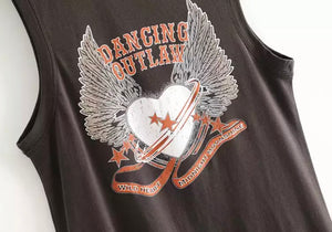 Dancing Outlaw Boho Vest Top