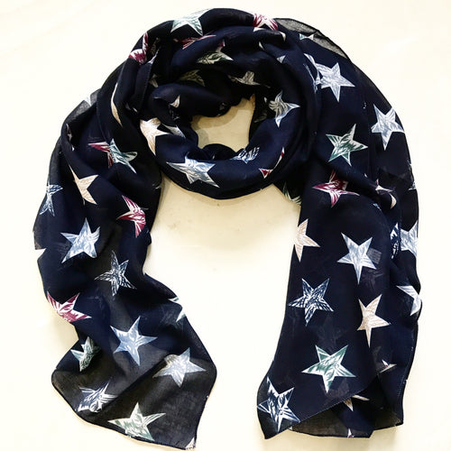 Star Scarf in Navy