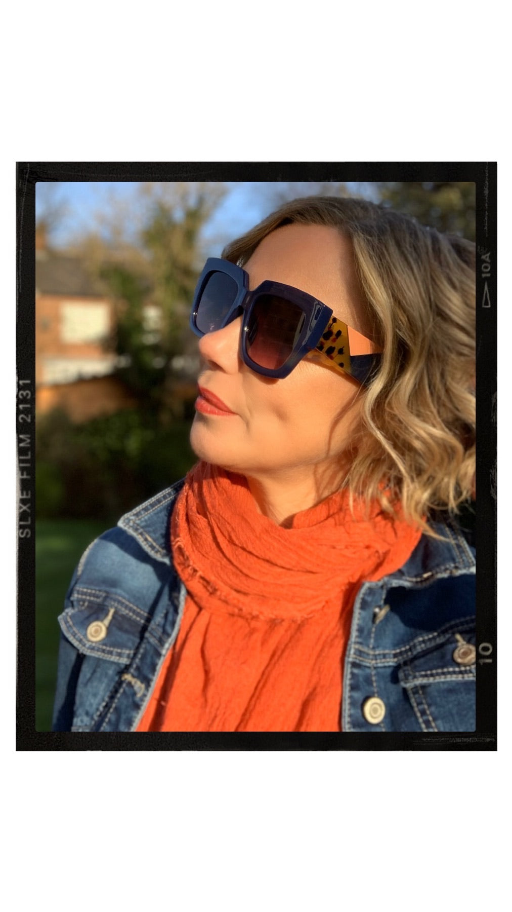 Sunglasses - Orange Geo Legs