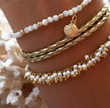 "Load image into Gallery viewer, Anklets - ""At The Shore"" set of Three"