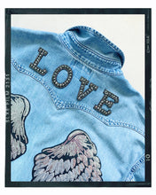 Load image into Gallery viewer, Rose Mae Reworked - SHOW SOME LOVE Denim Shacket