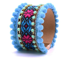 Load image into Gallery viewer, Boho Bracelet - Blue Aztec