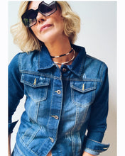 Load image into Gallery viewer, Rose Mae Reworked - BOHO LOVE Denim Jacket