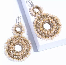 Load image into Gallery viewer, Beaded Earrings - Neutral