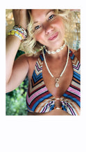 Load image into Gallery viewer, Beaded Cowrie Shell Necklace - Turquoise