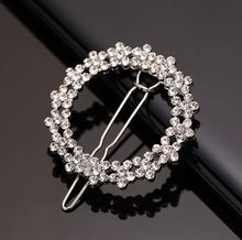 Load image into Gallery viewer, Diamanté Round Hair Clip