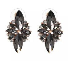 Load image into Gallery viewer, Crystal Earrings - Grey