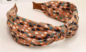 Spot Printed Headband - Burnt Orange