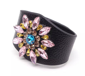Jewelled Cuff - Black