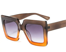 Load image into Gallery viewer, Oversized Retro Sunglasses - Brown/Orange
