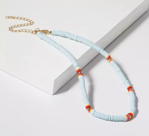 Disc Necklace - Pale Blue