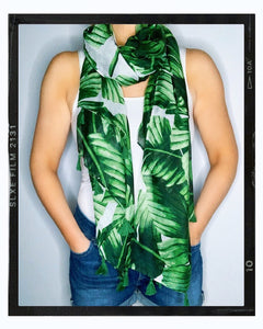 Summer Scarf/Sarong - Tropical Green Print