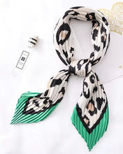 Load image into Gallery viewer, Crinkle Scarf - Green Leopard