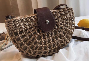 Rattan Half Moon Bag (Was £14.50 Now £9.00)