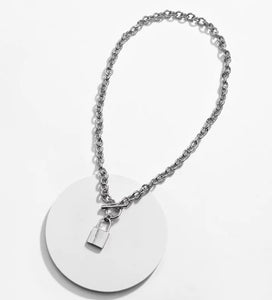 Locked Love Necklace - Silver
