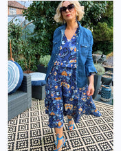 Load image into Gallery viewer, Boho Love Midi Dress - Blue Floral