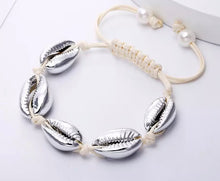 Load image into Gallery viewer, Cowrie Shell Bracelets Gold/Silver/Natural