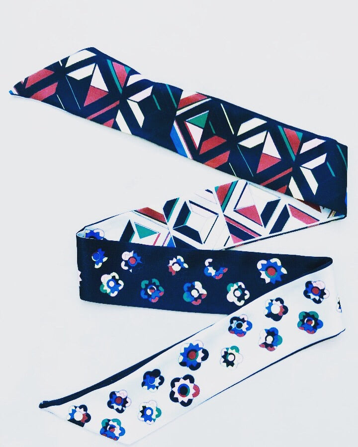 Skinny Scarf - Black/White/Multi (Was £5.50 Now £3.50)