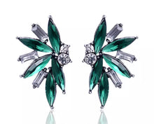Load image into Gallery viewer, Crystal Earrings - Green