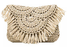 Load image into Gallery viewer, Stay Woven Clutch/Cross Body Bag - Light Natural