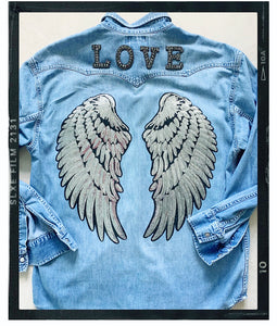 Rose Mae Reworked - SHOW SOME LOVE Denim Shacket