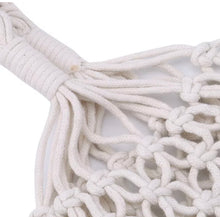 Load image into Gallery viewer, Mesh Cotton Macrame Woven Bag - Off White