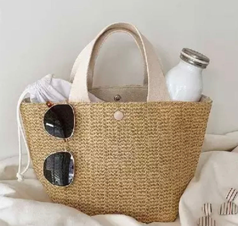 Mini Shopper Woven Bag
