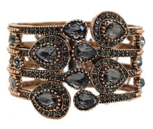 Load image into Gallery viewer, Jewelled Bangle Cuff - Grey