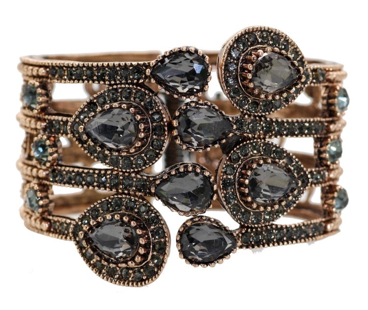 Jewelled Bangle Cuff - Grey