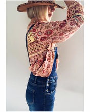 Load image into Gallery viewer, Boho Blouse/Tunic - Peachy Floral