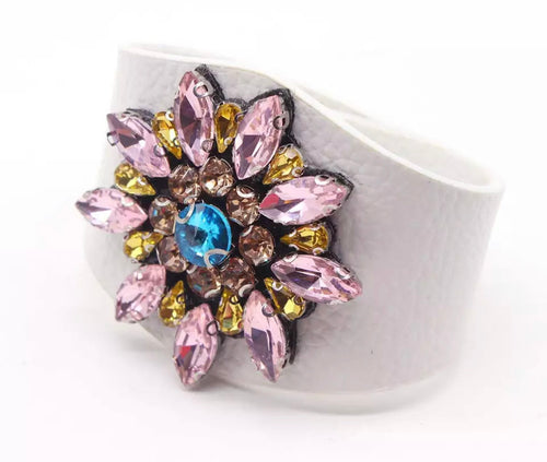 Jewelled Cuff - White