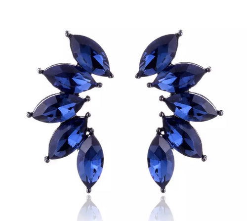 Crystal Earrings - Blue