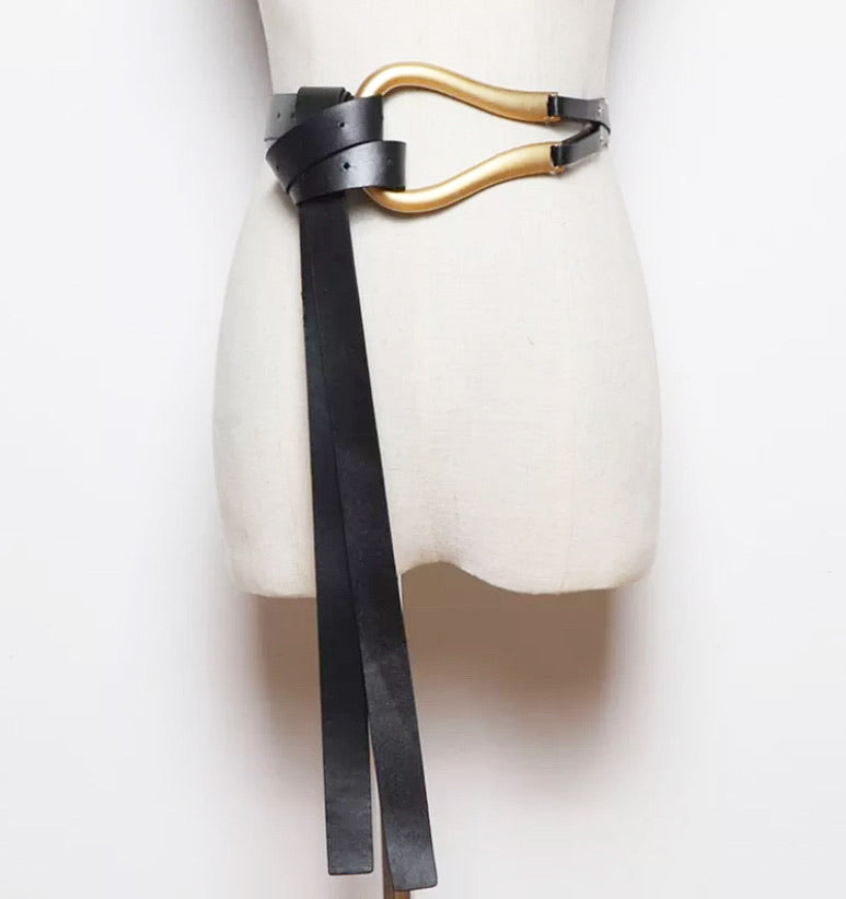 Double Up Belt - Black