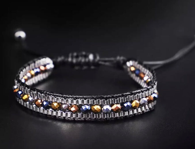 Beaded Bracelet in Black