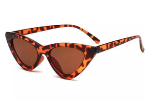 Retro Cat Eye Sunglasses - Leopard