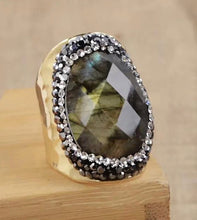 Load image into Gallery viewer, Cocktail Rings - Amethyst, Laborite & Crysoprases