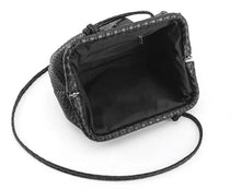 Load image into Gallery viewer, Woven Cloud Bag - Black