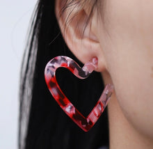 Load image into Gallery viewer, Perspex Heart Earrings - Grey (Was £6.95 Now £4.50)