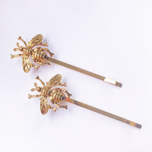 Bee Hair Clips - Gold