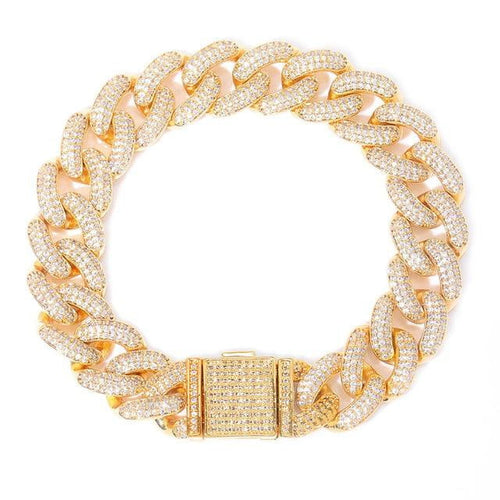 14mm  Iced Out Miami Cuban CZ Bracelet | Sketcherzplace