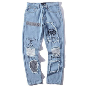 "Sketcherz ""Reflective Hole""  Denim Pants 